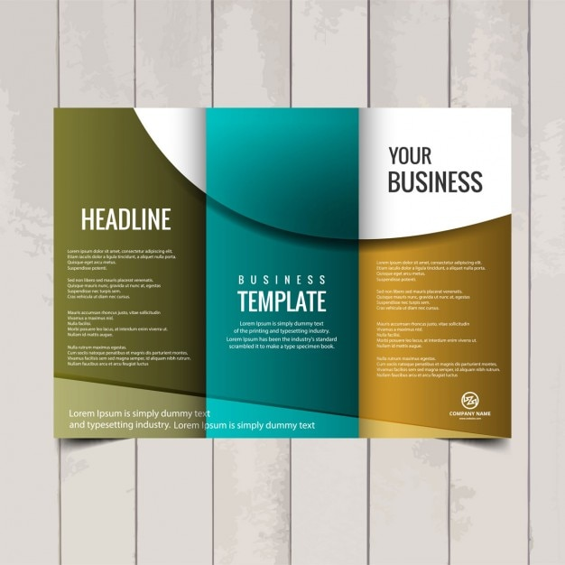 images for three fold brochure template free download