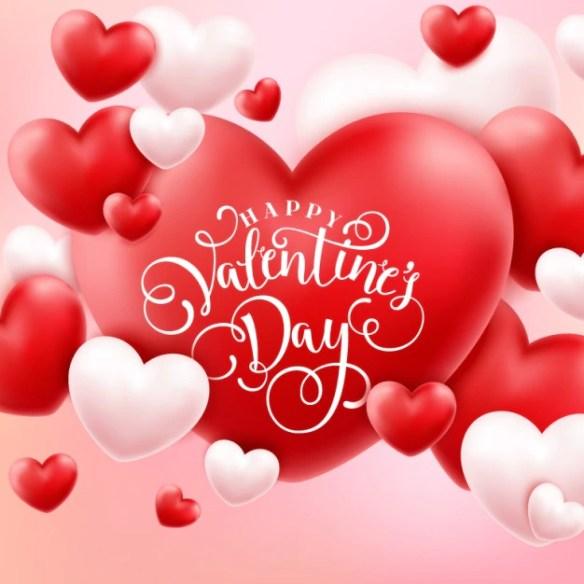 Valentine's background design Free Vector