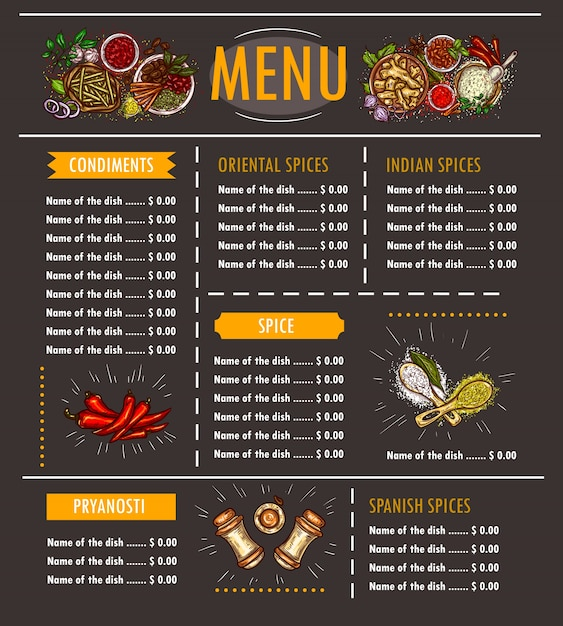 Indian Menu Vectors Photos And PSD Files Free Download