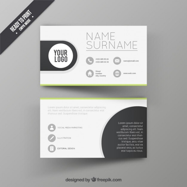 Visit Card Design Template Vector Free Download