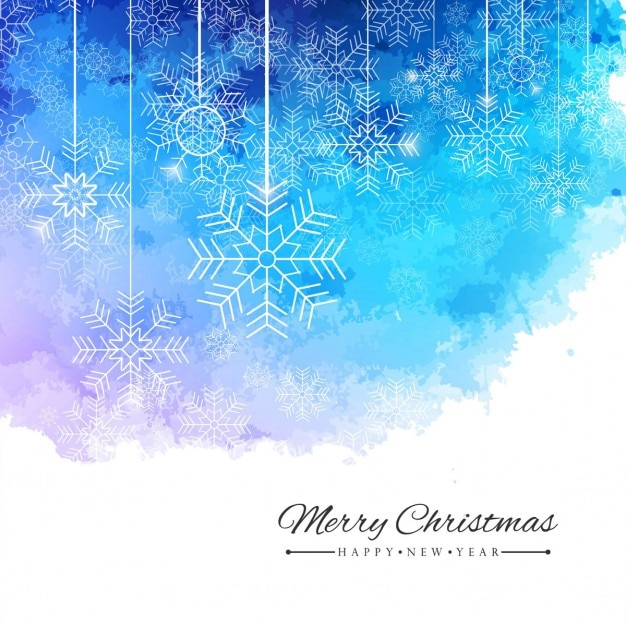 Watercolor Background With Christmas Balls Vector Free