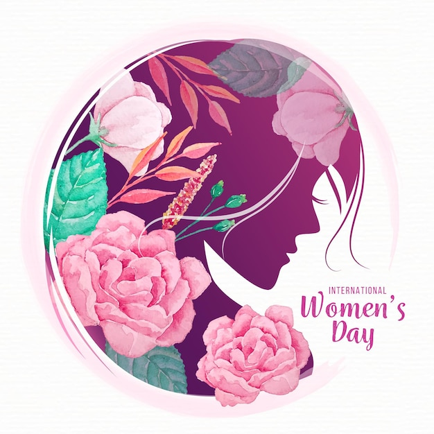 Watercolor international women's day Free Vector