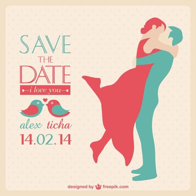 Wedding Card Invitation Free Vector