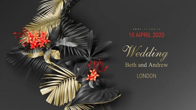 gold wedding invitation card design