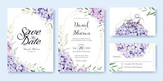 free vector  wedding invitation card template free download