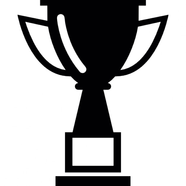 Black And White Trophy Clip Art