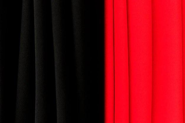fond de texture rideau rouge et noir