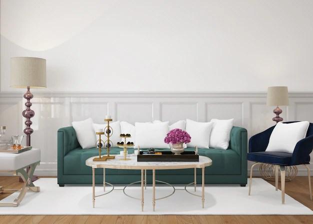 salon moderne avec canape et coussins