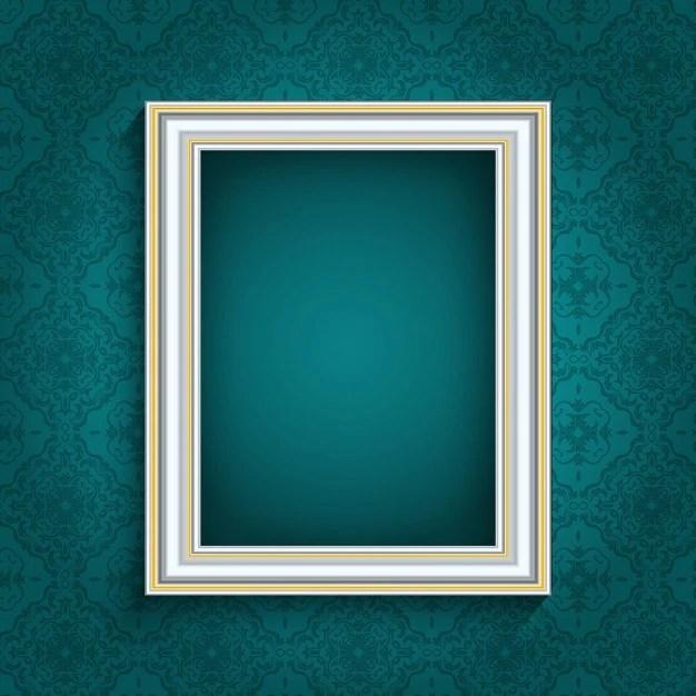 cadre photo sur un fond d ecran vintage