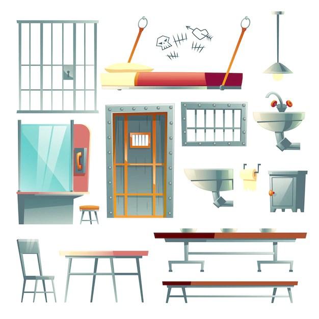 cellule de prison mobilier de salle a
