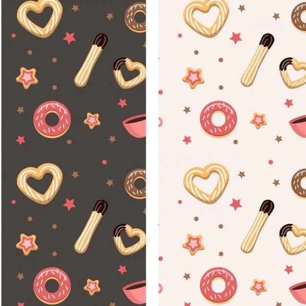 Churros Et Motif Donuts Tlcharger Des Vecteurs