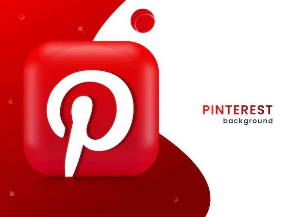 Fond Ou Banniere Pinterest 3d Vecteur Premium