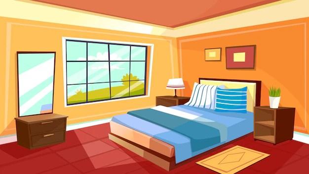 chambre confortable maison moderne