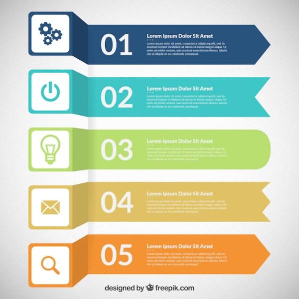 Banners coloreadas infografía | Descargar Vectores gratis