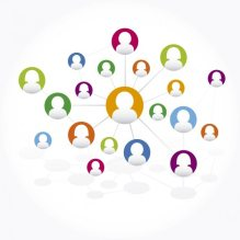 Conexiones de red social Vector Gratis