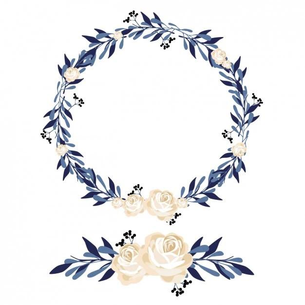 Diseo De Corona Y Ornamento Floral Descargar Vectores