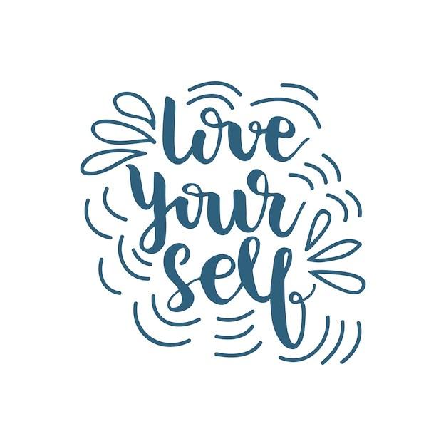 Download Lettering love yourself. ilustración vectorial | Descargar ...