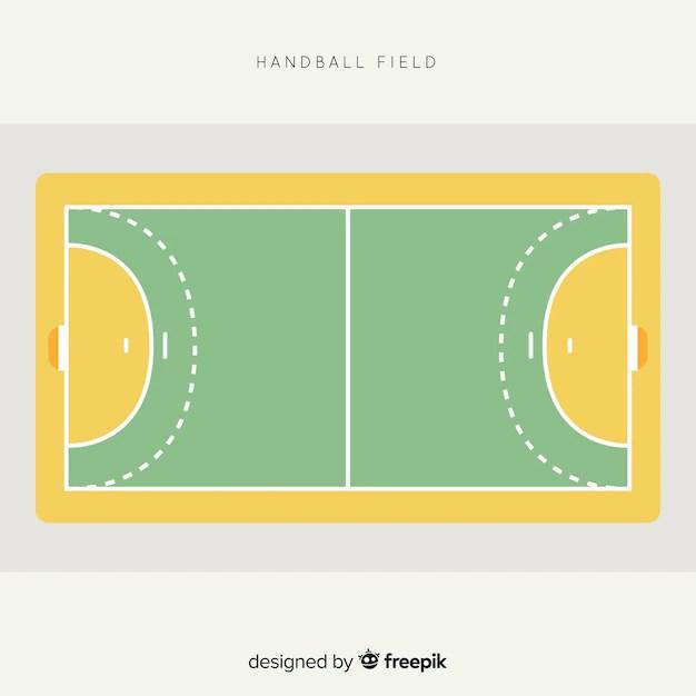 draufsicht handball feld design