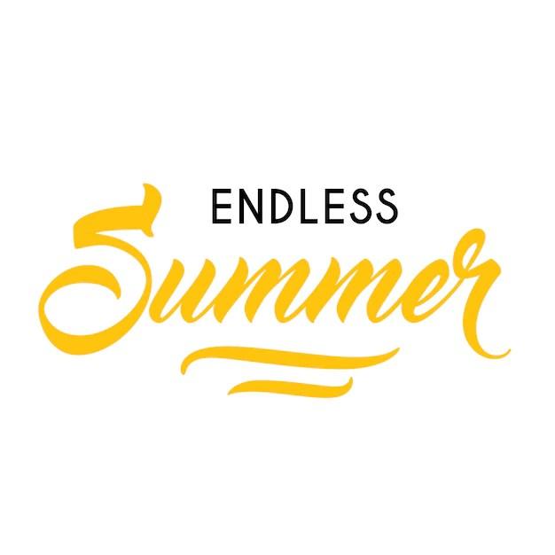 Endlose Sommer Saisonale Werbung Vorlage Getippter Und