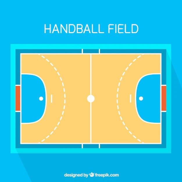 handballfeld mit draufsicht