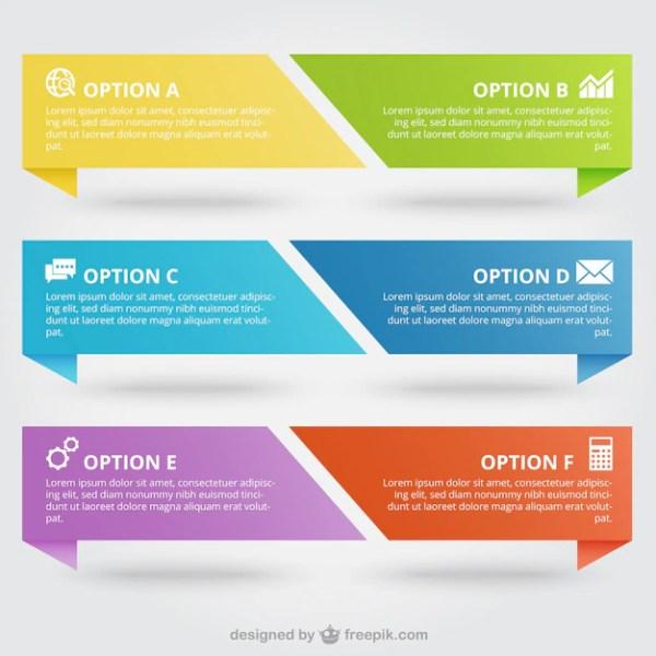 Bandeiras coloridas infográfico | Baixar vetores Premium