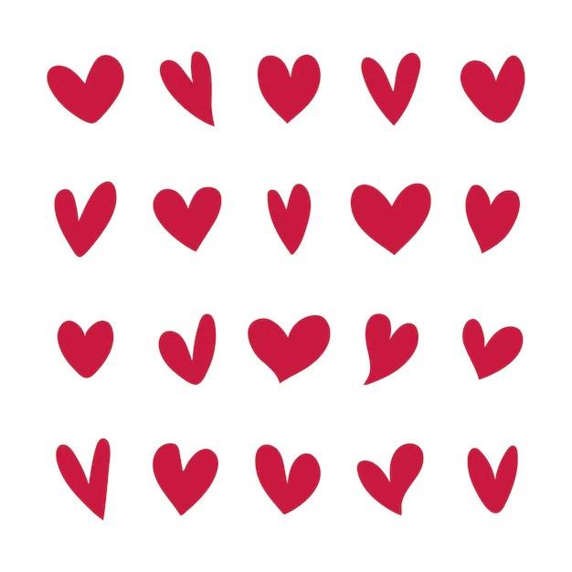 Ilustrações de corações