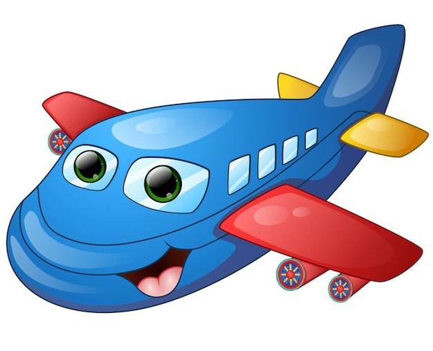 Uma grande variedade de modelos disponíveis, desde cidades,. Desenhos Animados De Aviao Feliz Vetor Premium