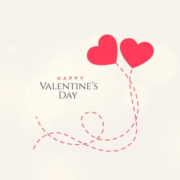 Design de cartão doce do dia dos namorados com dois ...