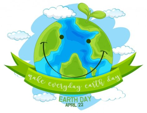 Feliz dia da terra, faça todos os dias o dia da terra | Vetor Grátis