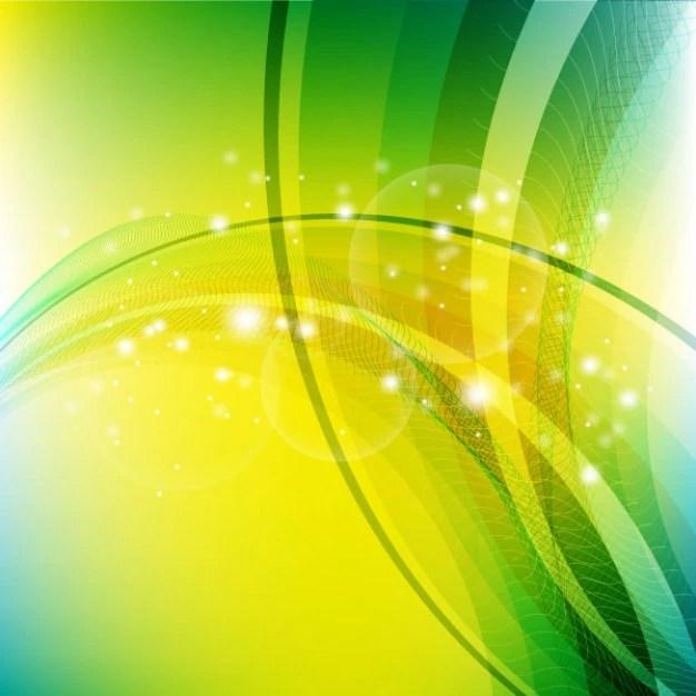 Fundo Abstrato Com Formas Verde E Amarelo Claro Baixar