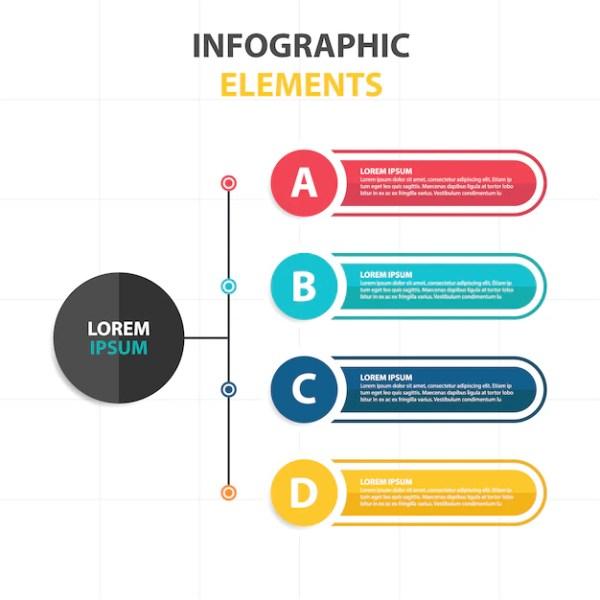 Modelo infográfico de negócios abstratos coloridos ...