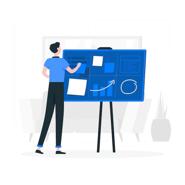 Organizando a ilustração do conceito de projetos Vetor grátis