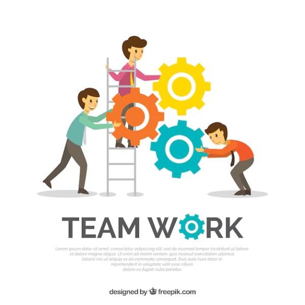 Trabalho em equipe de fundo em estilo plano | Baixar ...