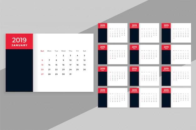 Calendario Da Tavolo 2019 In Stile Minimal Scaricare