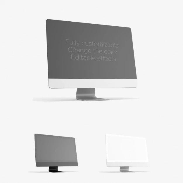 Realistische Computer Mock Up Psd Bestanden Gratis Download