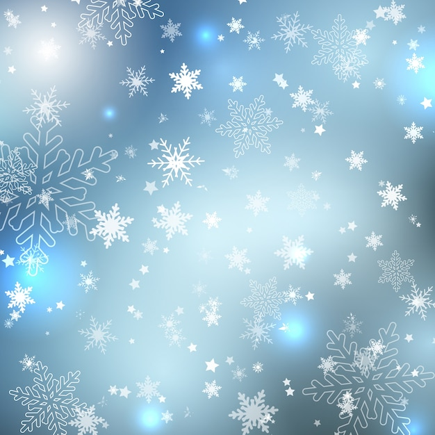 Blue And Silver Christmas Background
