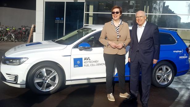 Wasserstoff-Hybrid-Auto aus Graz vorgestellt