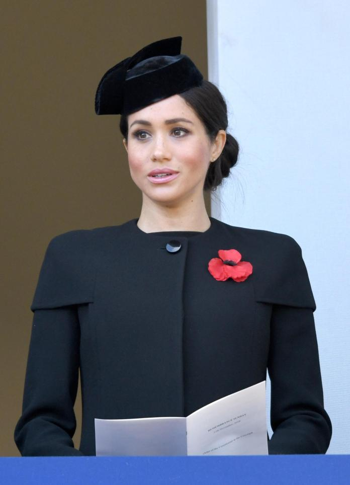 Duchess Meghan relies on Givenchy for her first Remembrance Day performance as Royal.