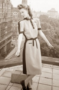 1940s utility dress fashion