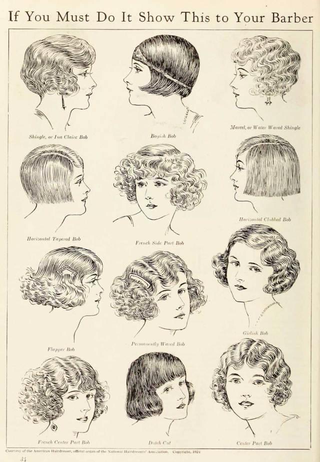 1920's bob - the hairstyle phenomenon of 1924 | glamour daze