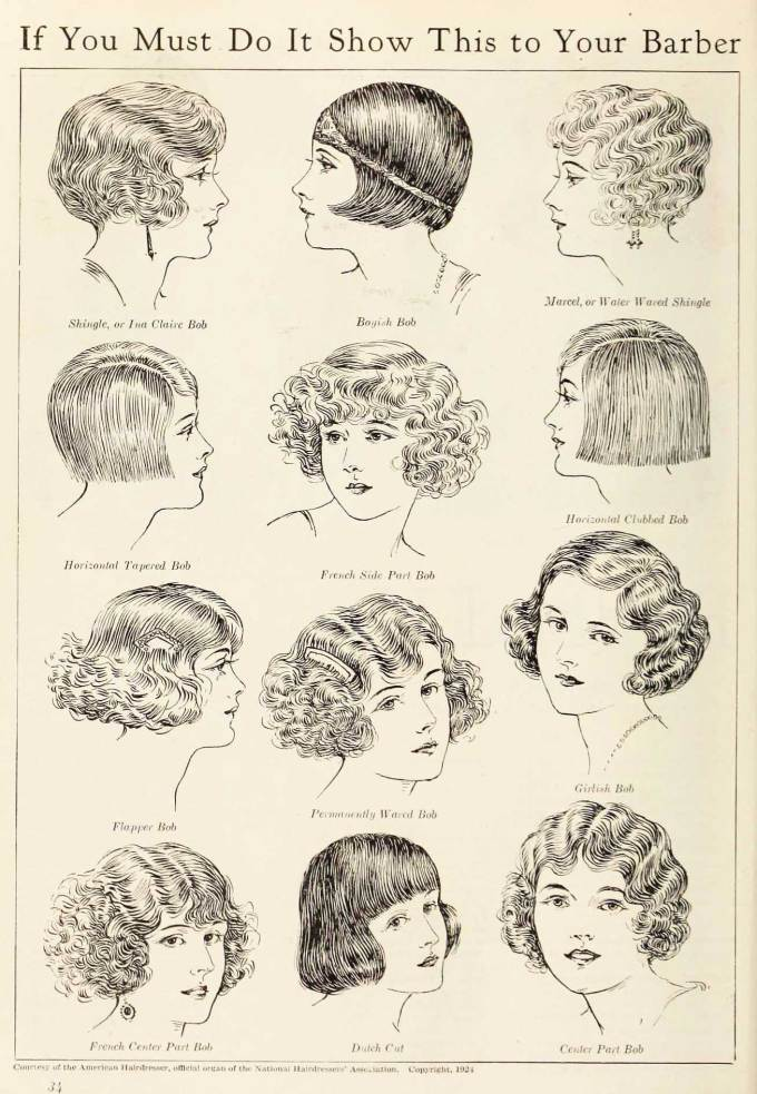 1920's bob - the hairstyle phenomenon of 1924   glamour daze