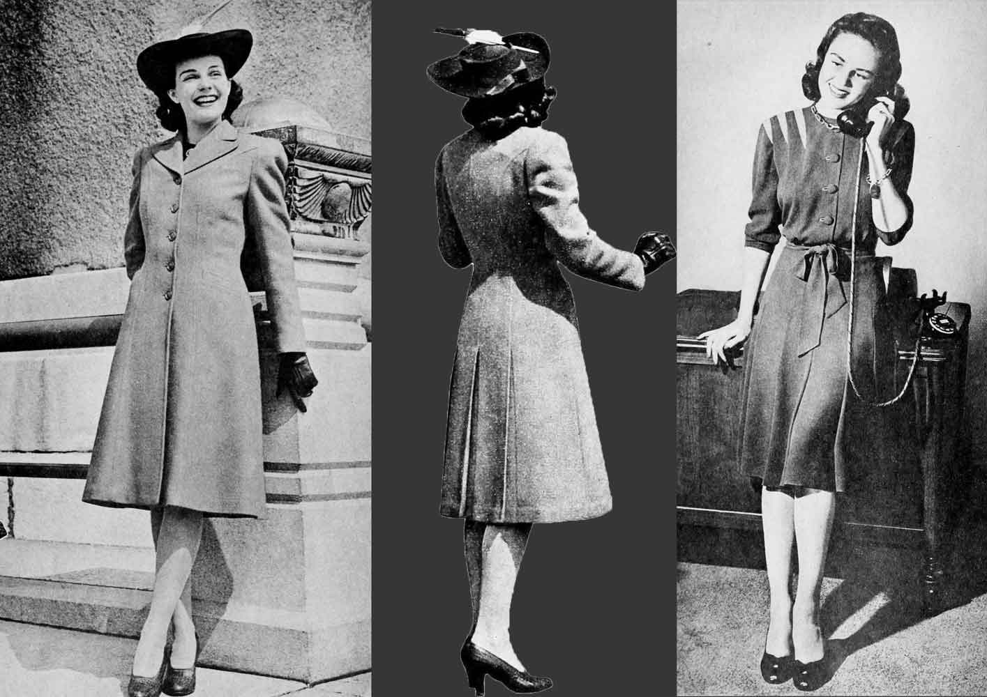 1940s Fashion   The Winter Dress and Coat of 1941   Glamour Daze 1940s Fashion   The Winter Dress and Coat