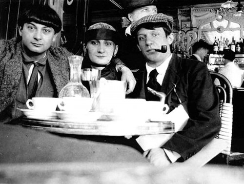 1916--Pablo-Picasso-Moise-Kisling-Paquerette-Cafe-la-Rotonde-Paris