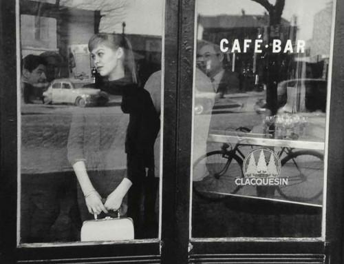 1957---Edouard-Boubat,-Waiting-for-a-date-at-the-Café-Vache-Noir,-Paris