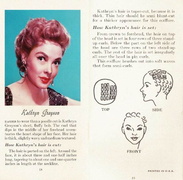 10 hollywood hairstyles of the 50s | glamour daze
