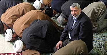 Ismail Haniyeh at Friday prayers