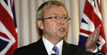 Australian Labor leader Kevin Rudd.