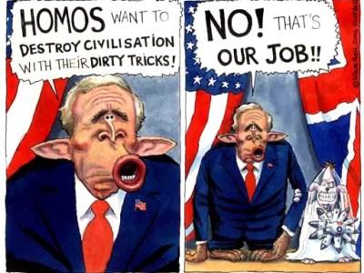 Bush antihomo blair