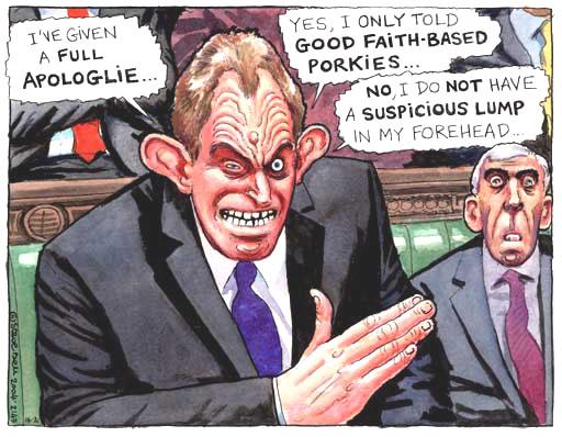Tony Blair, cartoon