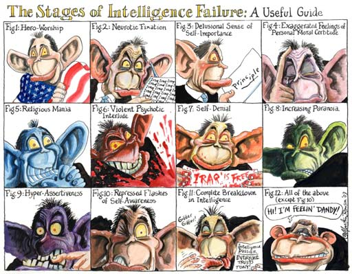 Tony Blair, cartoon by Martin Rowson